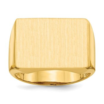 14k 14.5x19.5mm Open Back Men's Signet Ring