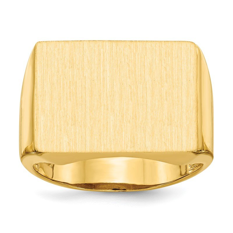 Quality Gold 14k 14.5x19.5mm Open Back Men's Signet Ring