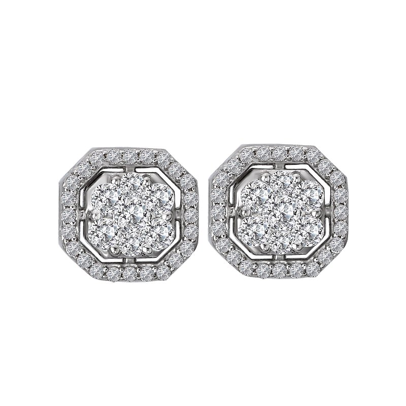 Radiance Diamond Cluster Earrings