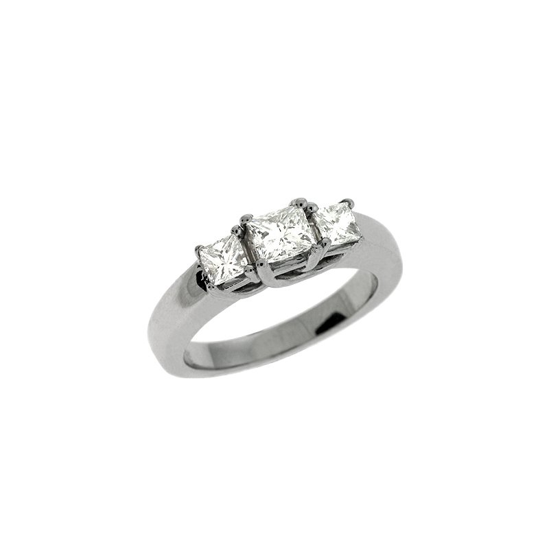 S. Kashi  & Sons Platinum Three Stone Ring