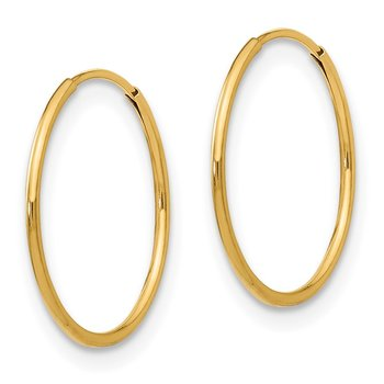 14k Madi K 1mm Hoop Earrings