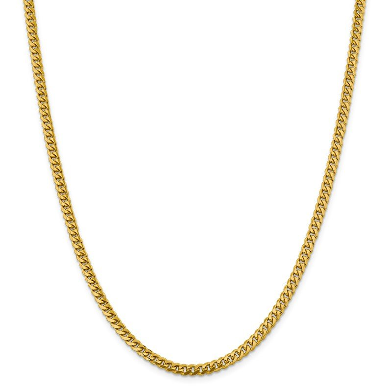 Quality Gold 14k 4.25mm Solid Miami Cuban Chain