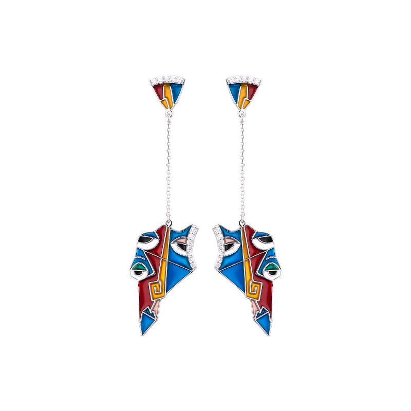 LARUS Jewelry Abstract Eyes Earrings