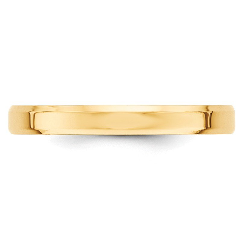 Quality Gold 14KY 3mm Bevel Edge Comfort Fit Band Size 10