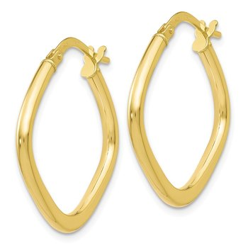 Leslie's 10K Polished Square Hoop Earrings
