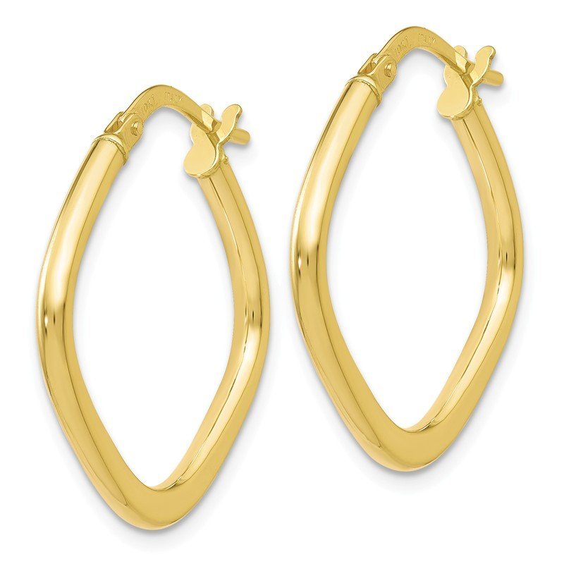 Leslie's Leslie's 10K Polished Square Hoop Earrings