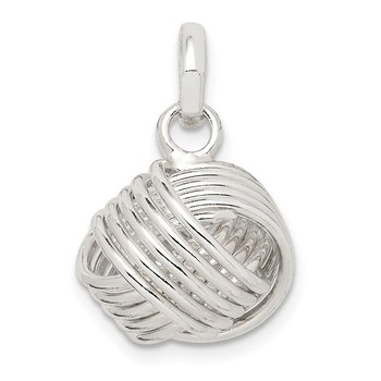 Sterling Silver Love Knot Large Pendant