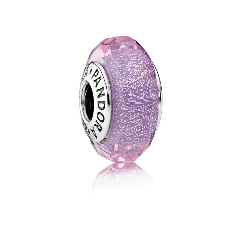 PANDORA Purple Shimmer Charm, Murano Glass