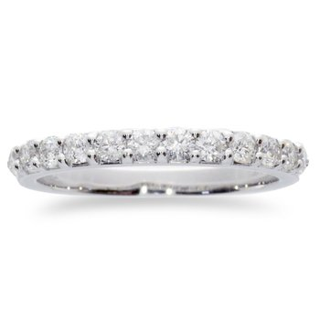 14K White Gold .78 ct Diamond Band Ring