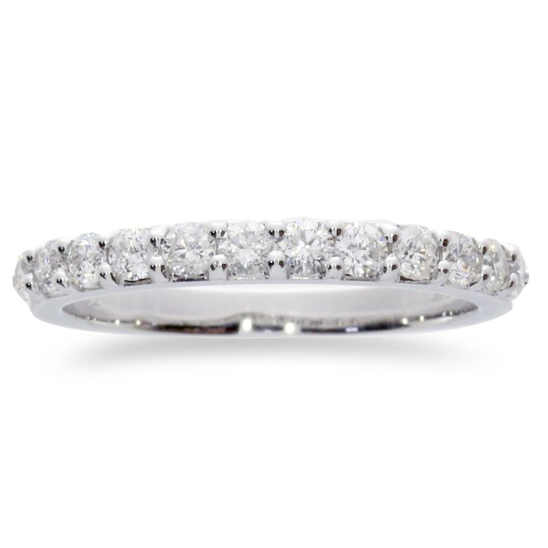Color Merchants 14K White Gold .78 ct Diamond Band Ring