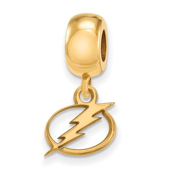 Gold-Plated Sterling Silver Tampa Bay Lightning NHL Bead