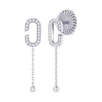 Celia C Drop Earrings in Sterling Silver