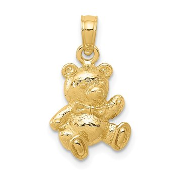 14k Teddy Bear Charm