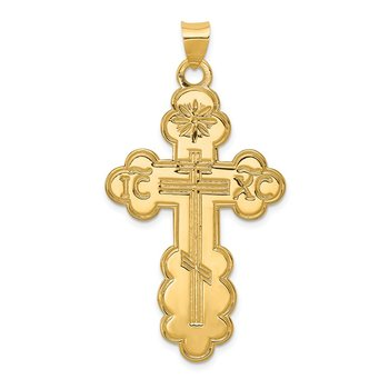 14k Eastern Orthodox Cross Pendant