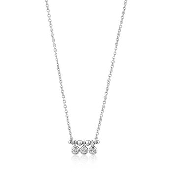 Shimmer Triple Stud Necklace