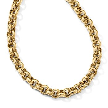 Leslie's 14k Polished Rolo Link Necklace