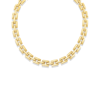 18Kt Gold Retro Link Collar