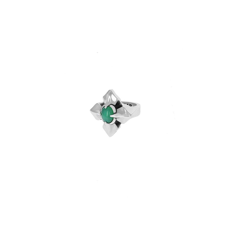 King Baby Mb Cross Chrysoprase Ring