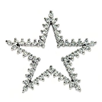 White Gold Star Charm