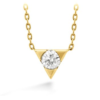 0.1 ctw. Triplicity Single Diamond Pendant