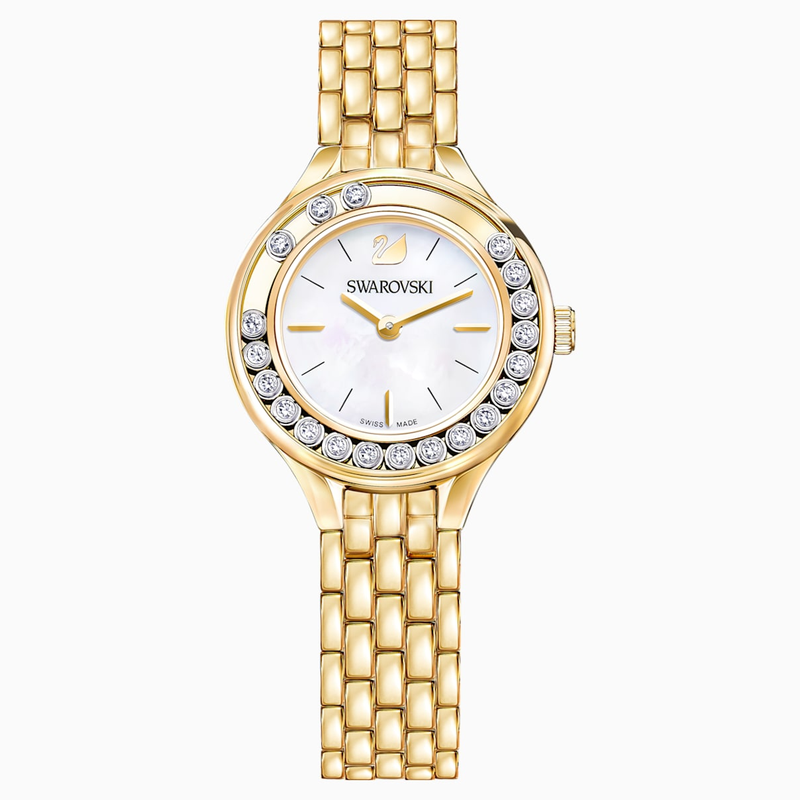 Swarovski Lovely Crystals Watch, Metal bracelet, Gold-tone PVD