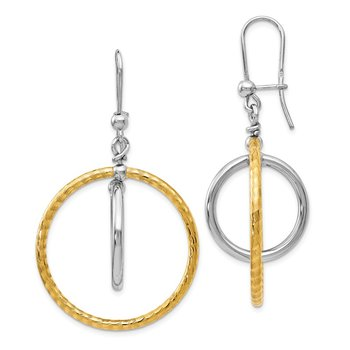 Leslie's SS Rhodium Gold-Plated Earrings
