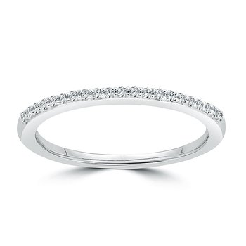 14 KT White gold Matching band  (0.14 CTW)