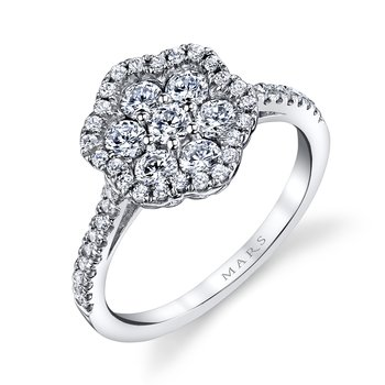 MARS 26145 Diamond Engagement Ring, 0.94 ct tw