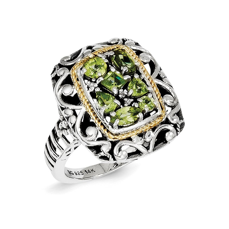Shey Couture Sterling Silver w/14k Diamond & Gemstone Ring