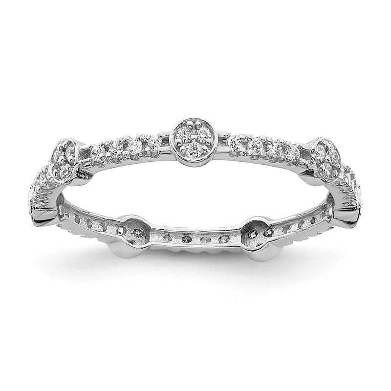 Quality Gold 10K White Gold CZ Ring