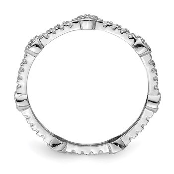 10K White Gold CZ Ring