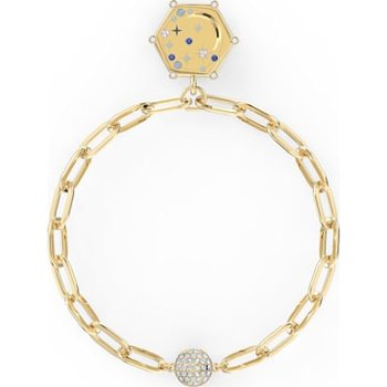 The Elements Moon Bracelet, Blue, Gold-tone plated