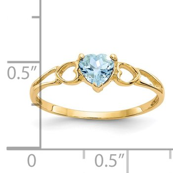 14k Aquamarine Birthstone Ring