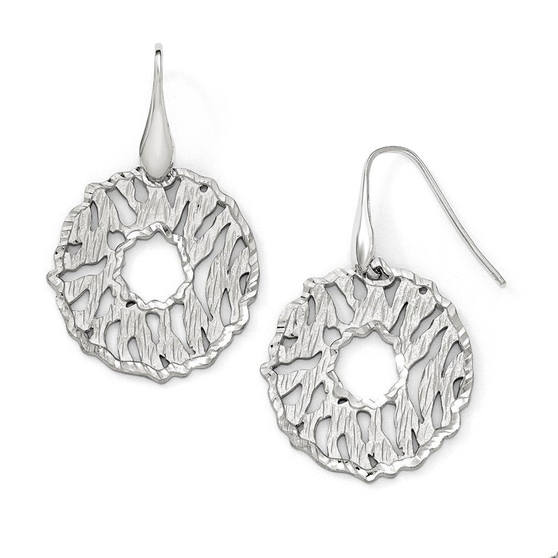Leslie's Leslie's Sterling Silver Matte D/C Dangle Earrings