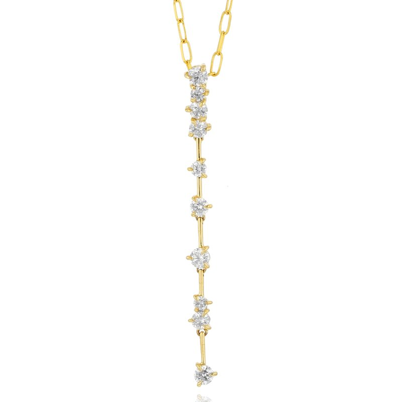 Phillips House Yellow gold diamond Enchanted drop necklace
