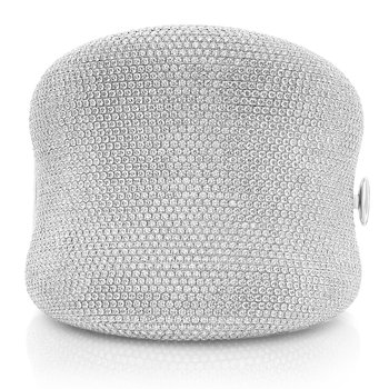 White Diamond Pave Bangle
