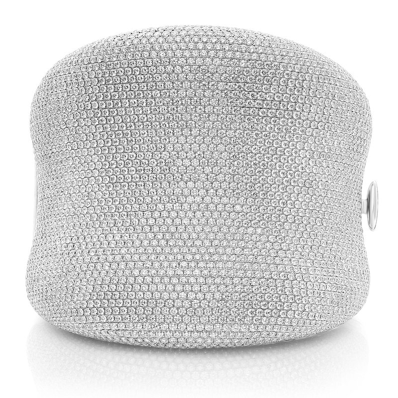 Roman & Jules White Diamond Pave Bangle