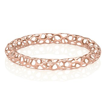 Big Metal Lace Bangle 18k Gold