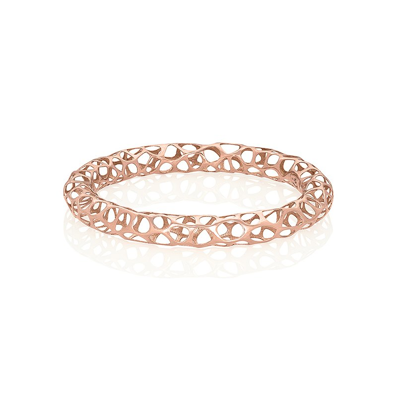 Vitae Ascendere Big Metal Lace Bangle 18k Gold