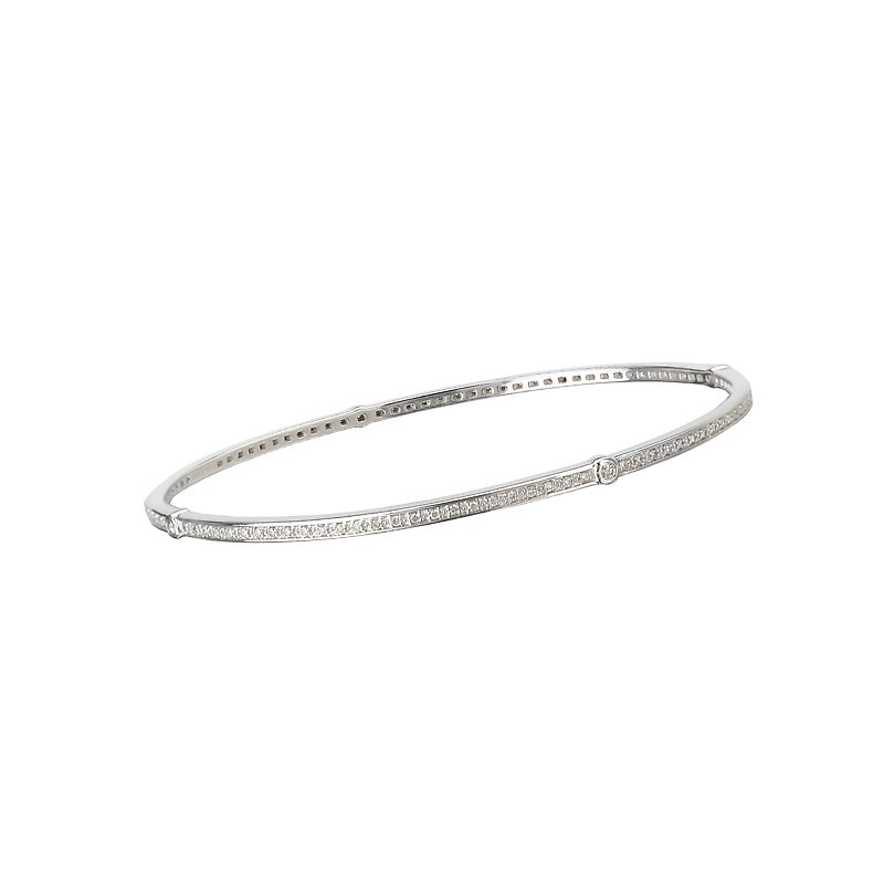 Tesoro Stackable Diamond Bangle
