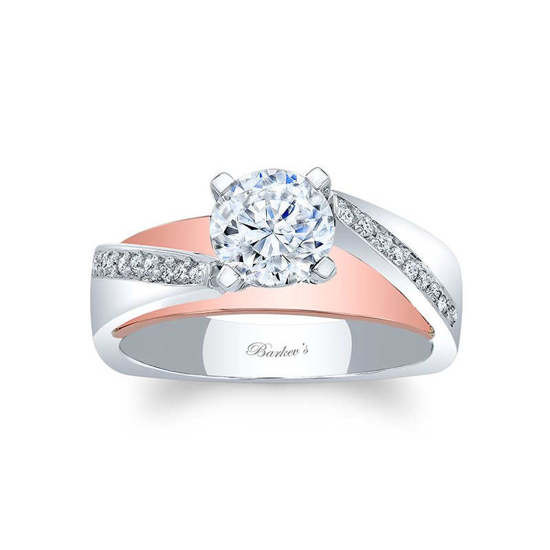 Barkev's White & Rose Gold Engagement Ring