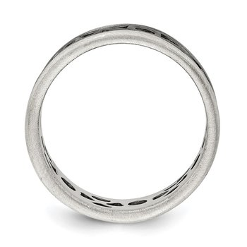 Sterling Silver X&O Design Ring