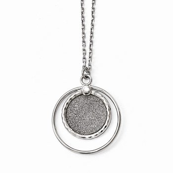 Leslie's Sterling Silver Laser Textured with 1in ext. Necklace