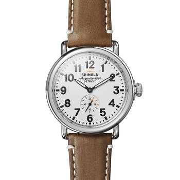 Runwell 41mm, Brown Leather Strap
