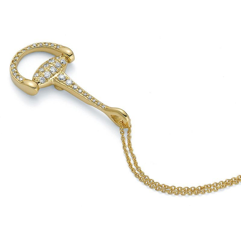 Roberto Coin 18Kt Diamond Accent Stirrup Necklace