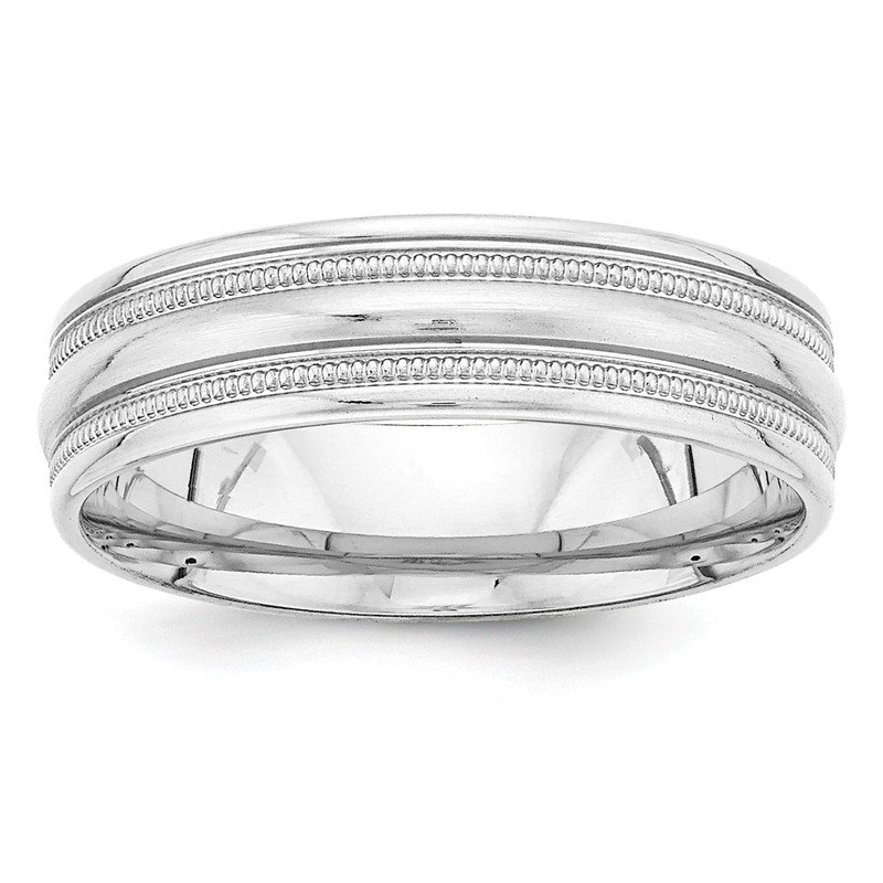 Quality Gold 14k White Gold Light Comfort Fit Fancy Band