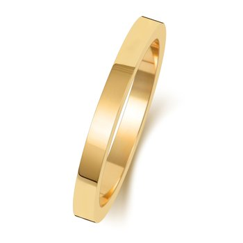 18Ct Yellow Gold 2mm Flat Flat Wedding Ring