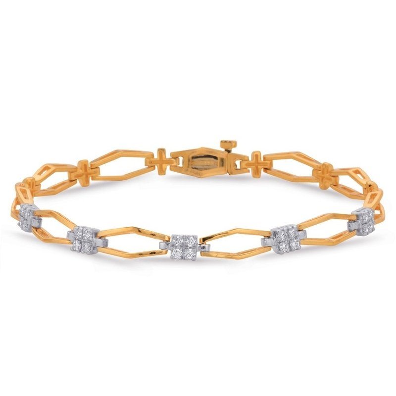 S. Kashi  & Sons Rose & White Gold Diamond Bracelet