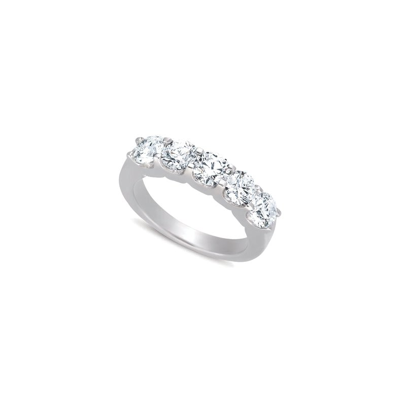 MAZZARESE Bridal Platinum Diamond Five Stone Band