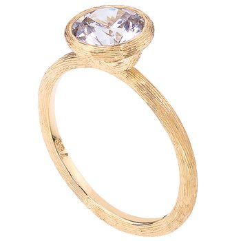 Yellow Gold Florentine Bezel Set Solitaire Engagement Ring